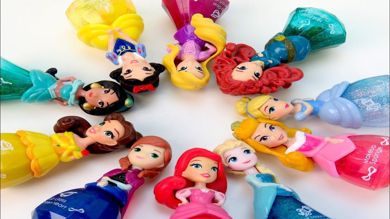 Princess Makeup Lip Gloss Nail Polish sets Rapunzel, Ariel, Elsa, Belle | C Kavala Disney Princess