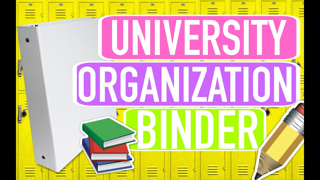 Uni/College Organization Binder   Paris & Roxy