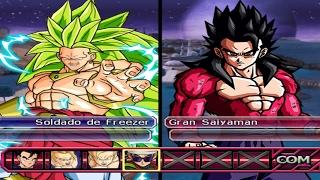 dragon ball z budokai tenkaichi 3 broly ssj3 vs gohan ssj4 red potara epic battle 1080p