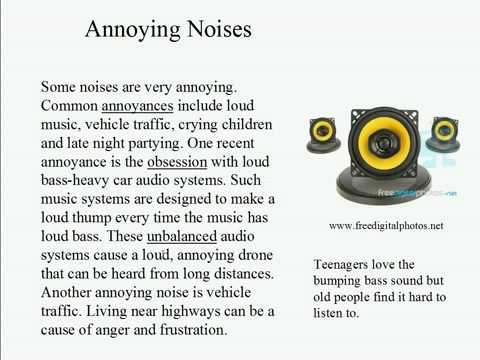 Live Intermediate English Lesson 52: How much noise 1: Annoying Noises