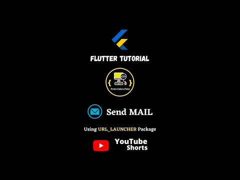 flutter send email - url launcher email - #youtube #shorts