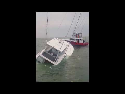 "Sport Fishing boat ""Waste Knot"" sinks off Oregon Inlet."