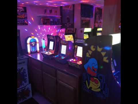 Arcade1up Gameroom tour Sep. 2020 from 1HealthPlays Onstot