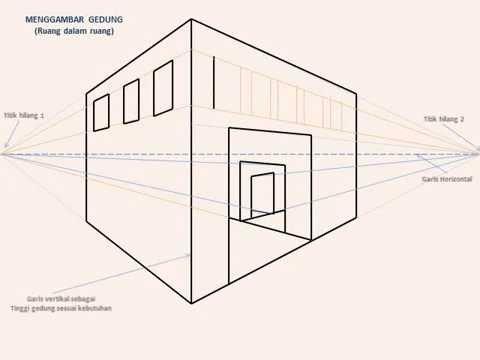 Menggambar Gedung 3d Dengan Teknik Persfektif Youtube