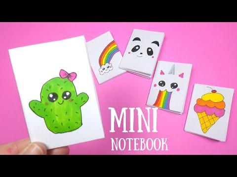 DIY Mini Notebook | Back to School | One Sheet No Glue Notebook