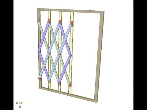 Folding Scissor Gate 1 Youtube