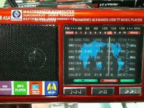 Radio FM Portable Asatron USB 145 ribu di Masterpiece Kom