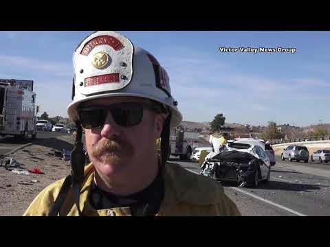 Major Crash Shuts Down Highway 18 in Apple Valley