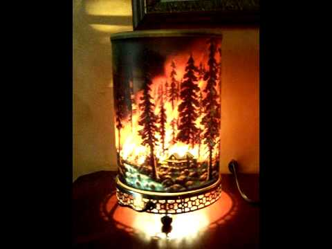 Motion Lamp Econolite Forest Fire Oval 1960 Rare 761