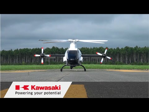 川崎重工: 無人コンパウンド・ヘリコプター「K-RACER」飛行試験