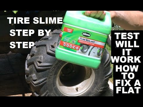Tire Slime How To Use Instructions Repair And Drive Test Fix Flat