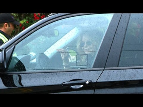 Meg Ryan Attends The Carrie Fisher And Debbie Reynolds' Memorial Service
