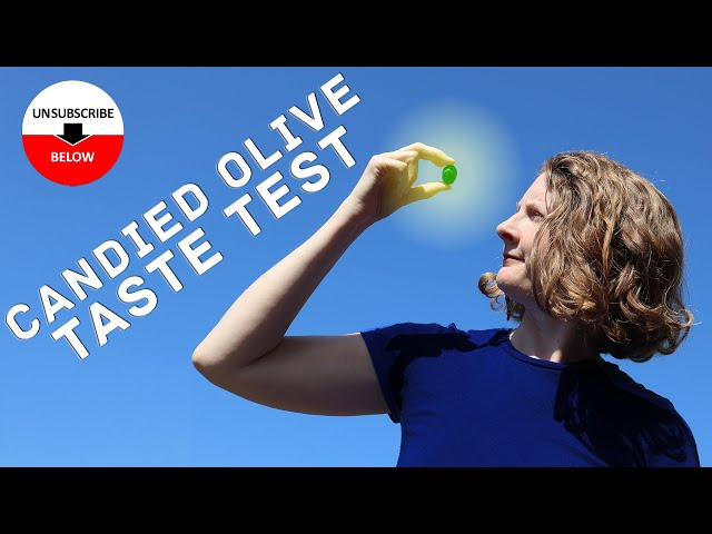 Random Review #1: Kirsten and Simon taste-test some weird candied olives