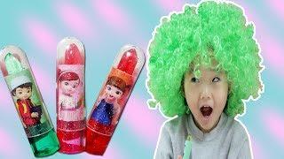 새로나온 콩순이 립스틱 사탕으로 색깔놀이 해요! 핑거송 컬러가발 인기동요 영어 마법놀이 Learn Colors with Finger Family Kids Song 리틀조이