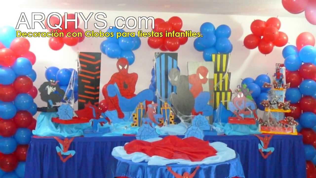 Decoracion con globos para fiestas infantiles youtube - Arreglos fiestas infantiles ...