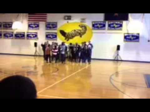 Gila Bend high school Aims Prep assembly