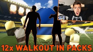 FIFA 17: 12x WALKOUT in a PACK OPENING !! 🔥😱- Wakez