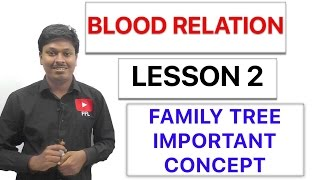 BLOOD RELATION - FAMILY TREE ( IMPORTANT CONCEPT ) - Lesson 2