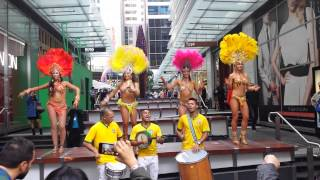 Brazilian Samba Dancers at World Square in Sydney- World Cup 2014 Fever