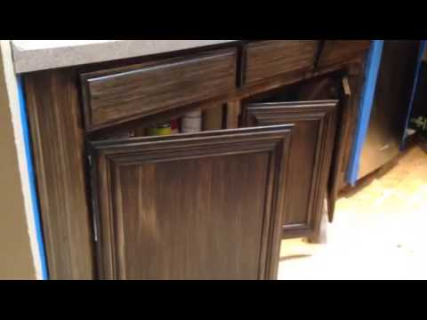 Youtube How To Glaze Kitchen Cabinets