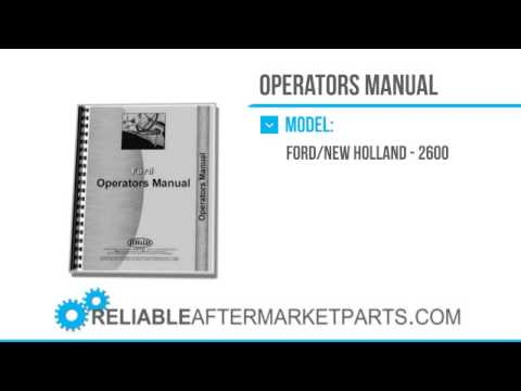 2764 New Ford 2600 Tractor Operators Manual