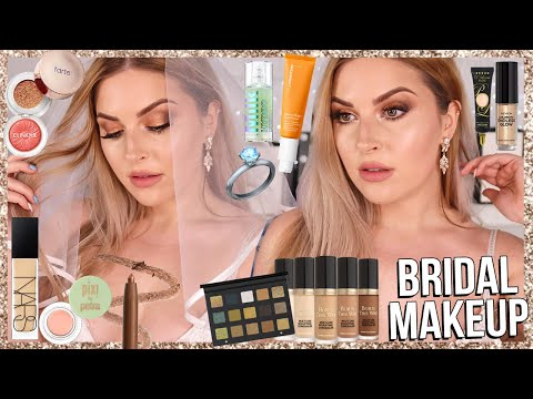 BRIDAL makeup tutorial! 💍 wedding glam using HOLY GRAIL makeup! thumbnail