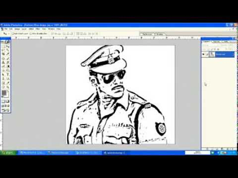 how to create line drawing from photo in photoshop