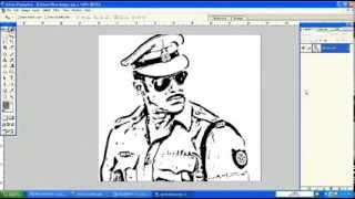 Salman Khan's Photo converted to Line Drawing