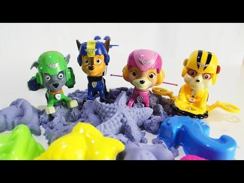 ЩЕНЯЧИЙ ПАТРУЛЬ Игрушки Развивающие мультики для детей Лепим из песка видео для малышей Новые серии