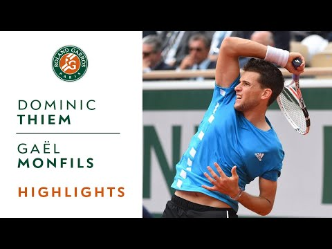 Dominic Thiem vs Gaël Monfils - Round 4 Highlights | Roland-Garros 2019