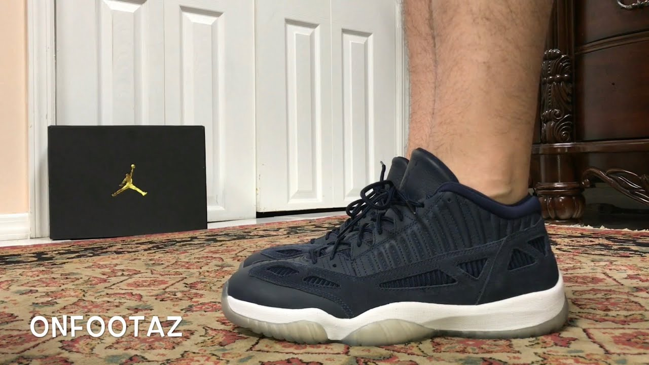 premium selection edf02 466b9 Air Jordan 11 XI Low IE Obsidian On Foot