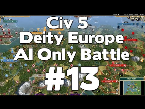 Civ 5 Deity Europe AI Only Battle # 13