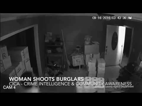Woman shoots home intruders after house is invaded by 3 armed perps. 1 perp died from GSW to torso