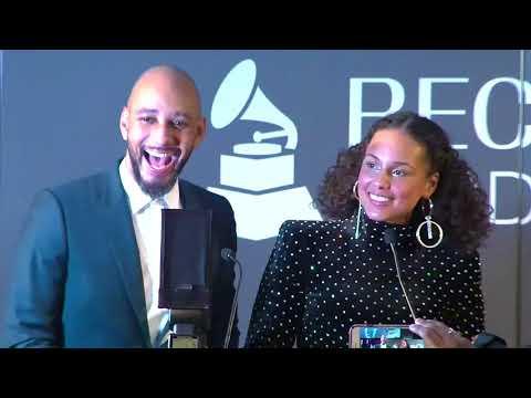 Alicia Keys & Swizz Beatz Receive Producers & Engineers Wing Award    60th GRAMMYs