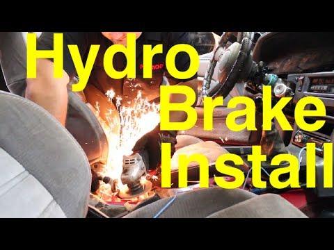 How to Install a Hydraulic handbrake  ebrake  1jz Supra
