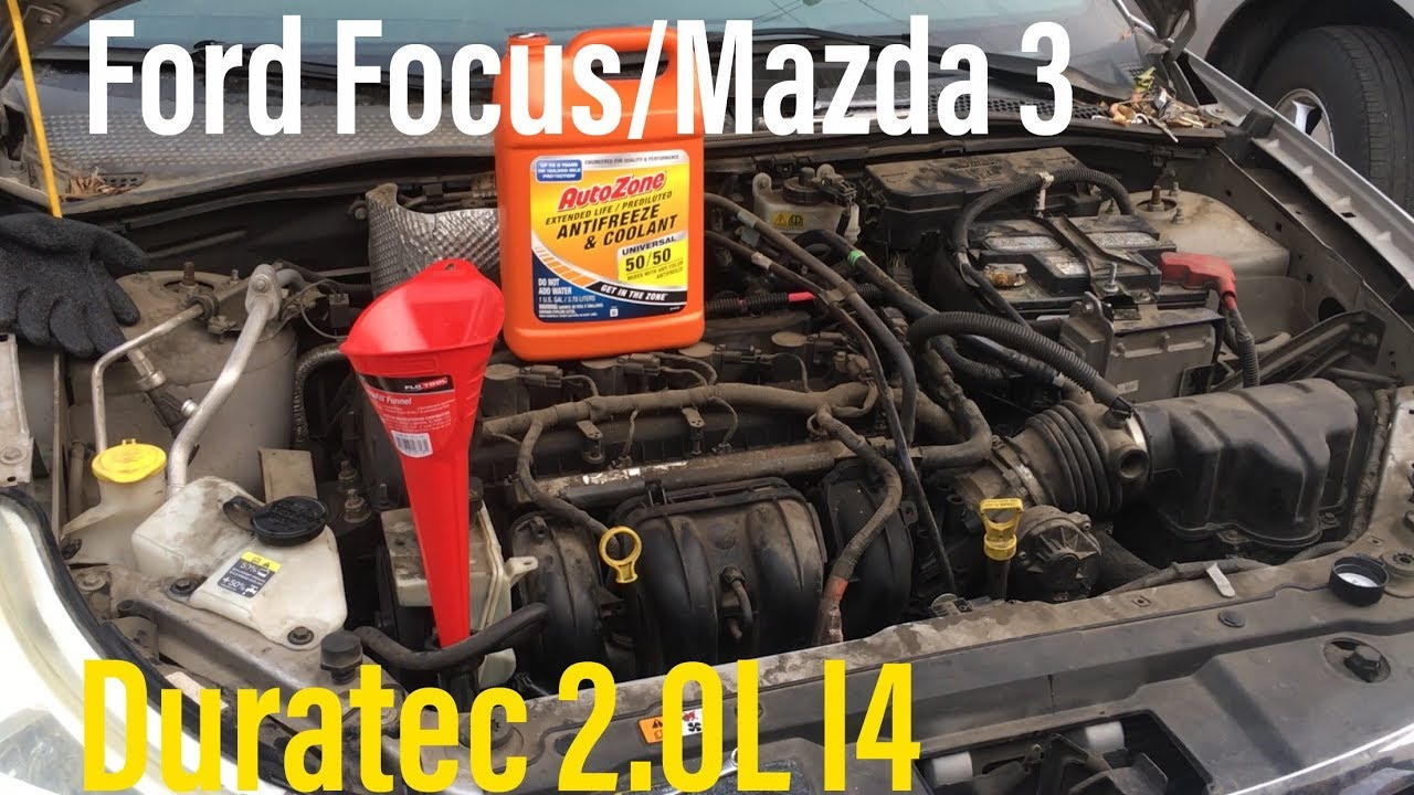 how to replace & fix leaky engine coolant water outlet on 2008-11 ford  focus 2 0l i4 duratec mazda 3