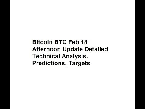 Bitcoin BTC Feb 18 Afternoon Update Detailed Technical Analysis. Predictions, Targets