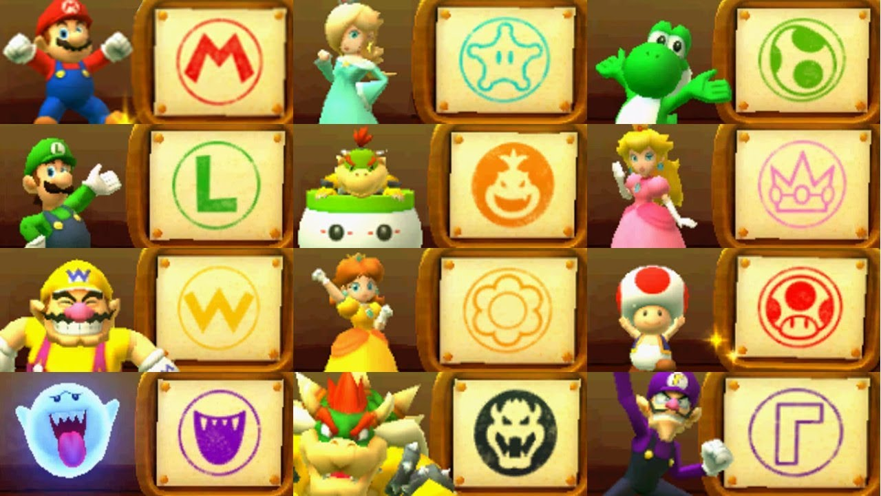 Mario Party Star Rush All Character Actions Amp Amiibo