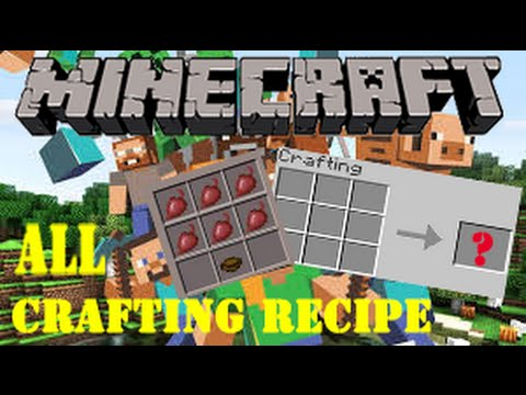 Full download minecraft all crafting recipes for Minecraft xbox one crafting recipes