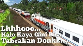 Ternyata begini Lhoo.. kalo ada dua kereta di jalur single..