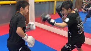 ボクシング中学生 ジュニアマススパーリング13yearsold (Mass boxing Mass sparring Junior)