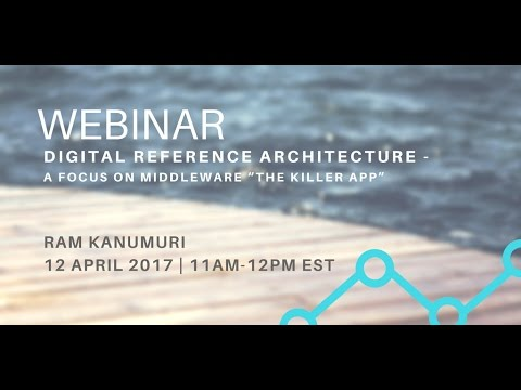 """Digital Reference Architecture - A Focus on Middleware """"The Killer App"""""""