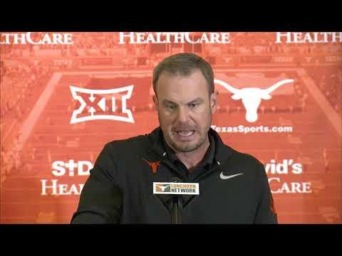 The Bottom Line - Tom Herman Addresses The Media The Monday Of Texas vs. Kansas