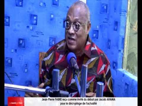 Jean-Pierre FABRE reçu comme invité du débat pour le décryptage de l'actualité par Jacob AHAMA