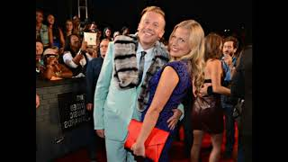 rapper Macklemore with his wife Tricia Davis and their daughter