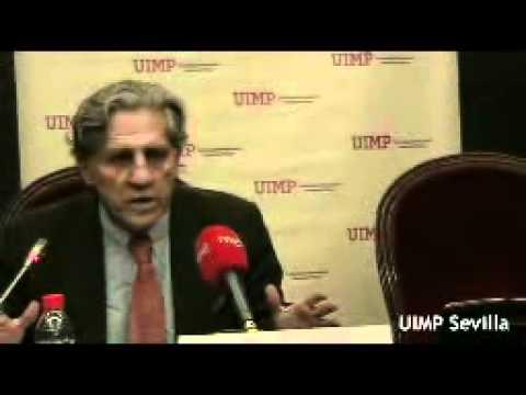 Rueda de prensa de Diego López Garrido en la UIMP Sevilla