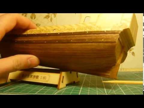 видео: Голландская яхта d'orо. Сборка модели. Часть 5.