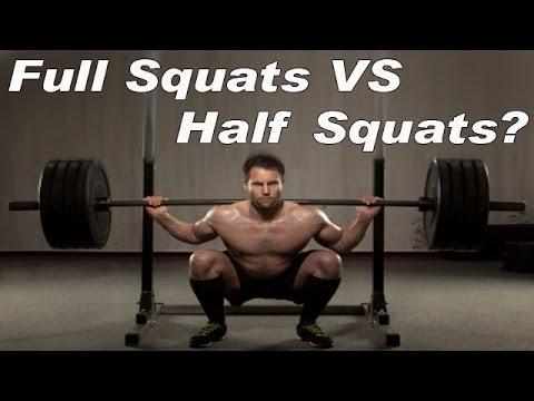 Full Squats VS Half Squats What is the BEST Squat?