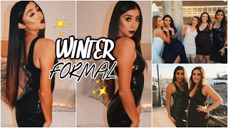 WINTER FORMAL GET READY WITH ME & VLOG! FT. OhPolly Latex Dress! | Ronni Rae