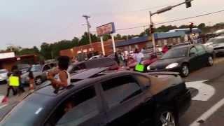 Ferguson, MO Protests RAW FOOTAGE Police vs Protestors 8/14/14 7:59 PM CST